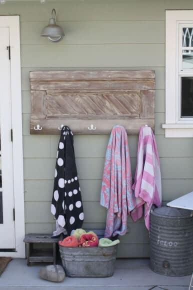 Handtuchhacken selber machen - DIY Vintage Gartendeko