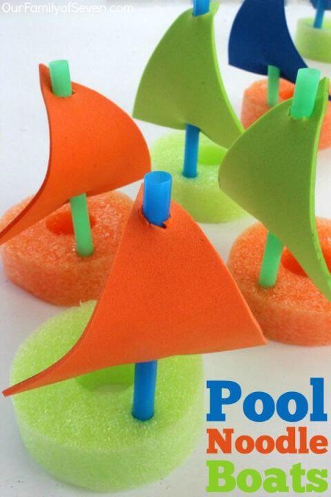 Schwimmnudel Bastelideen - Basteln mit Kleinkindern im Sommer