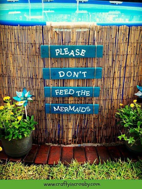 Lustige Gartendeko-Ideen - Pool