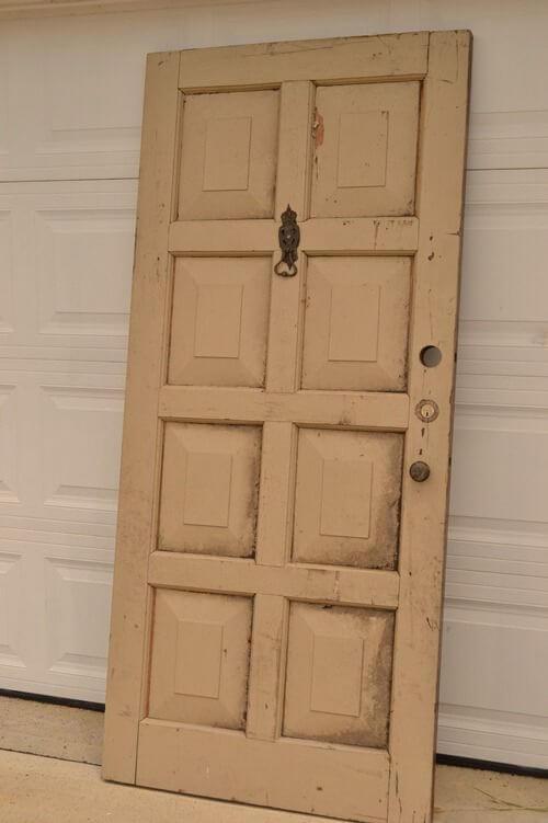 Alte Türen wiederverwenden-Kopfende aus Türen basteln-DIY Dekoration selber machen