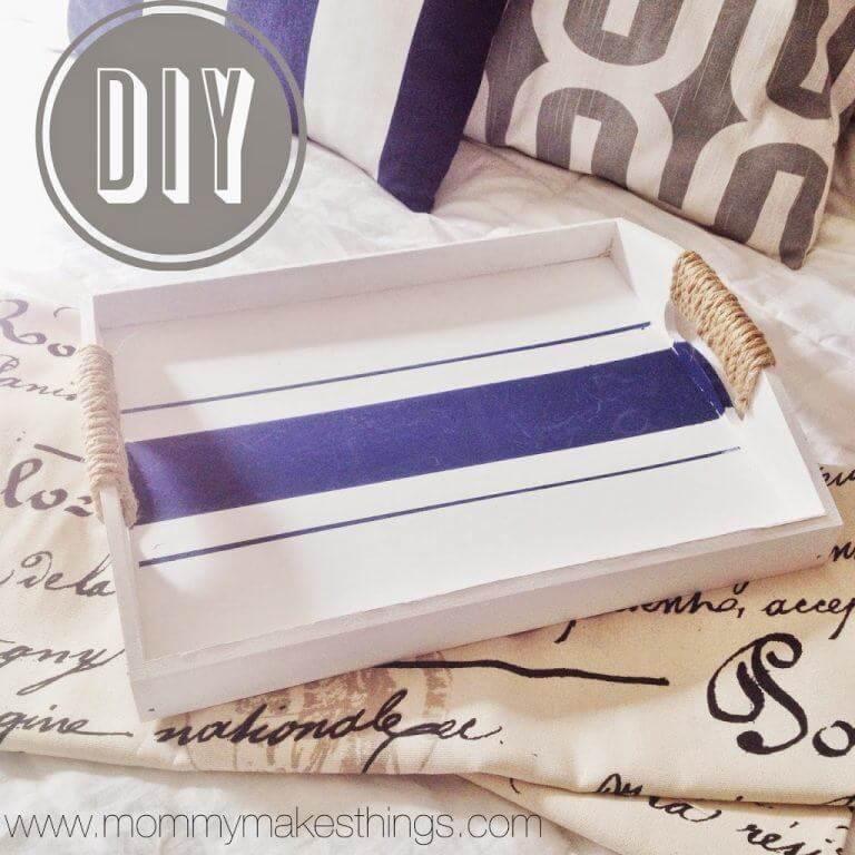 Bastelideen in seemännischen Stil - DIY Tablett