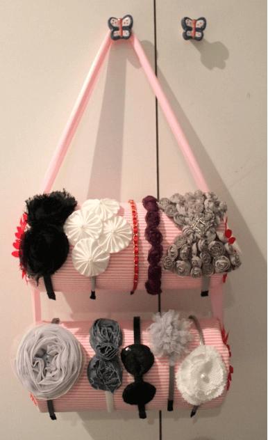 DIY Dekoration Bastelidee-Haarreifen bastelidee-Schwimmnudel wiederverwenden