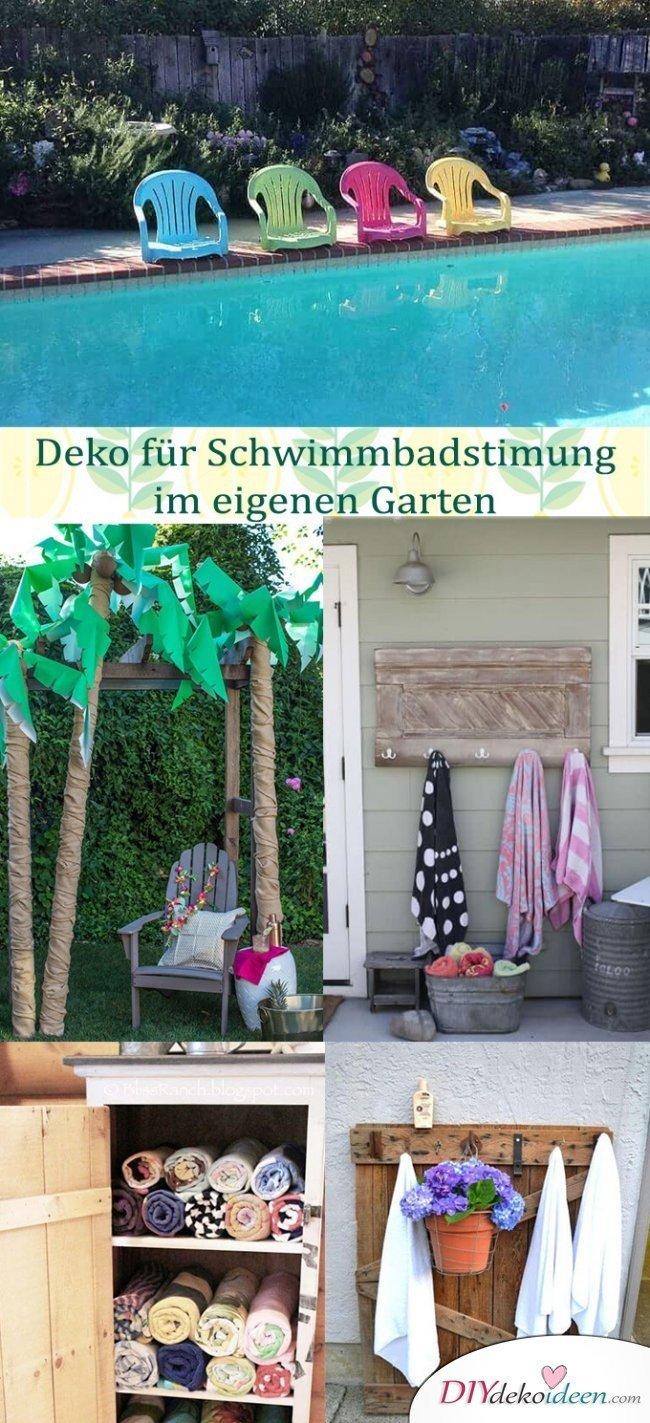 Mit diesen Ideen garantierst du im Garten richtige Schwimmbad-Stimmung!