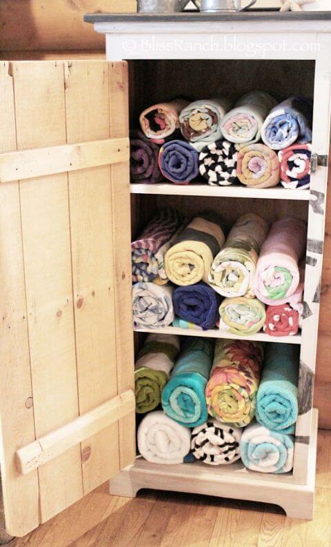 Handtuchschrank selber machen - DIY Garten gestalten