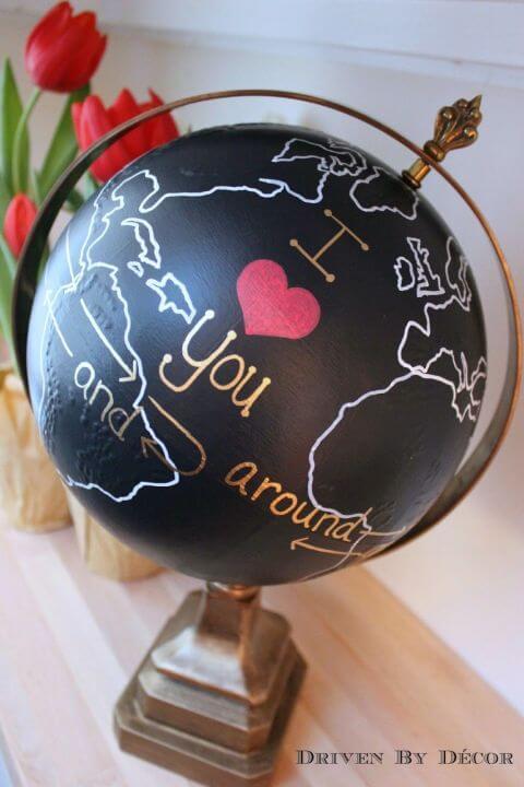 romantisches DIY Globus-Geschenk selber machen