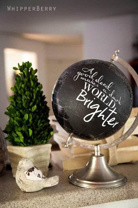Deko Ideen mit alten Globen - Zitate