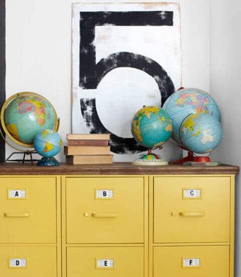 Alte Globen als Dekoration oder Aufbewahrung verwenden-DIY Deko Ideen