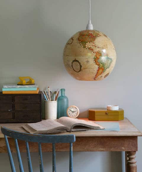 Vintage Globus Lampe-DIY Deko Ideen-Globus wiederverwenden