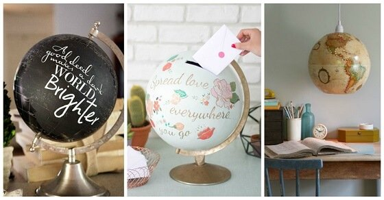 13+1 fantastisch kreative Deko Ideen mit alten Globen