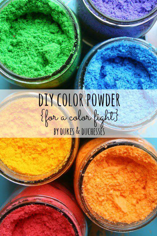 Basteln mit Kleinkindern - DIY Farbenpuder