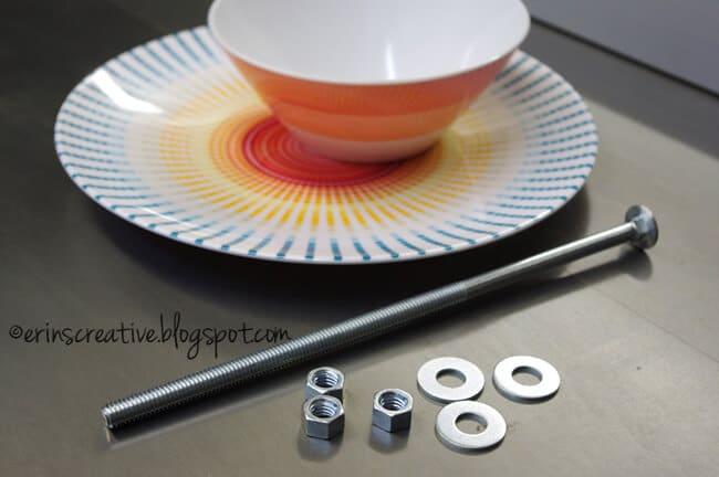DIY Bastelidee mit einer Schüssel und einem Teller