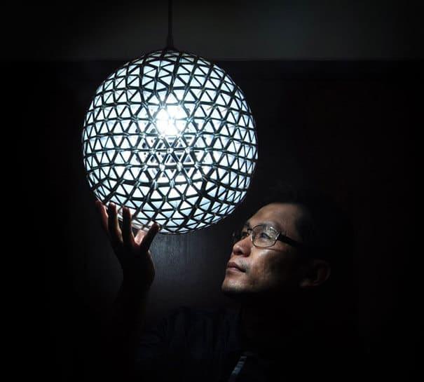kreative Lampe aus Getränkepäkchen basteln