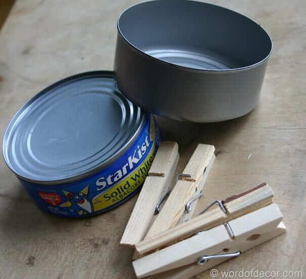 Thunfischdose wiederverwenden
