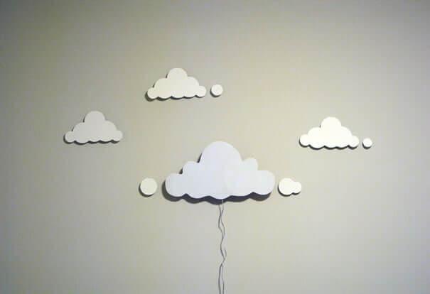 Wolkennachtlicht Wanddeko zum Selbermachen