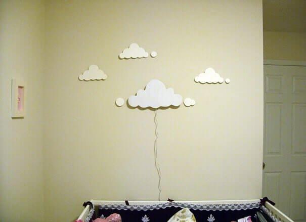 Dekoration mit Wolken-DIY Lampe