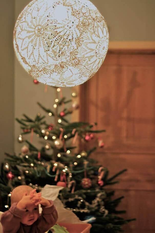 Spitzen-Lampe, Vintage-Wohndesign