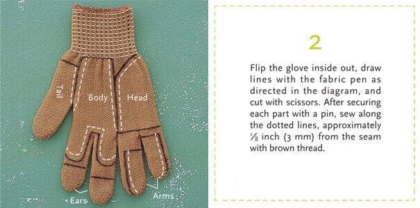 DIY Projekte für Kinder - Basteln mit alten Handschuhen