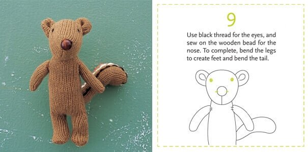 Fertiges DIY Streifenhörnchen - Geschenkidee für Kinder