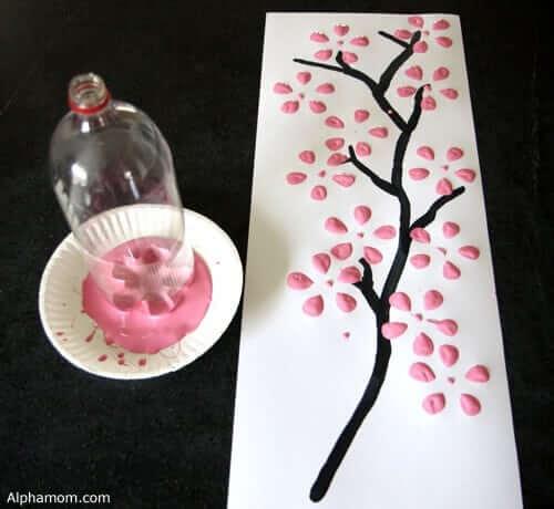 Plastikflaschen für Kunstwerke verwenden