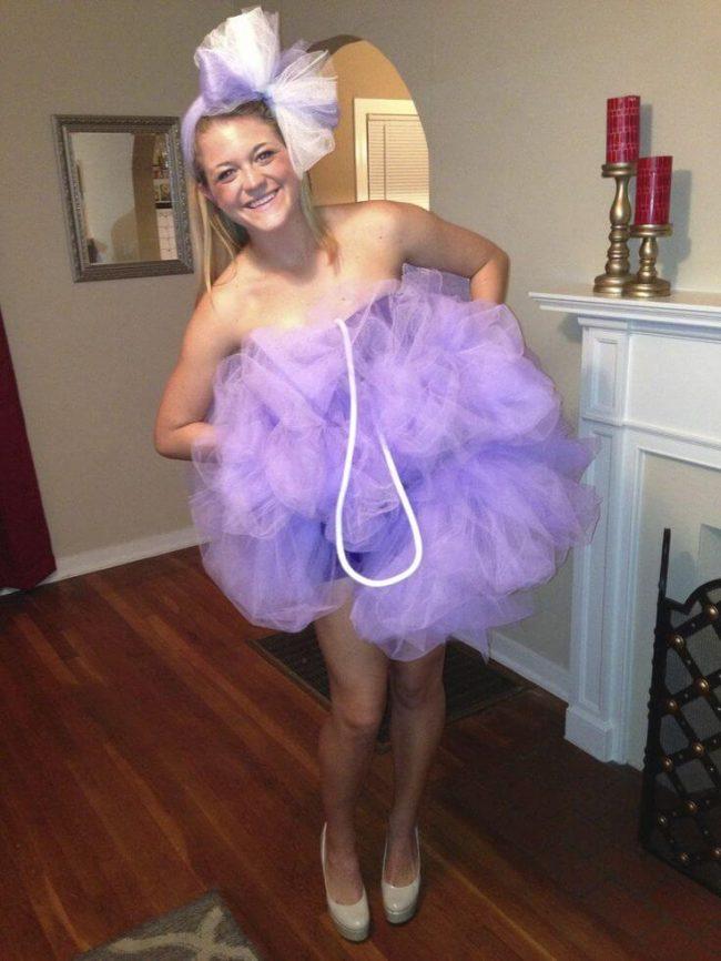 Sexy Badeschwamm Tüll-Kostüm für die Halloween Party