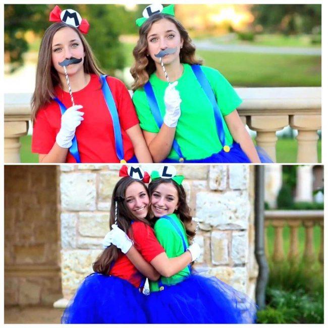Mario und Luigi Kostüm für die Halloween Party