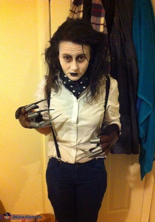 Edward mit den Scherenhänden Kostüm für die Halloween Party