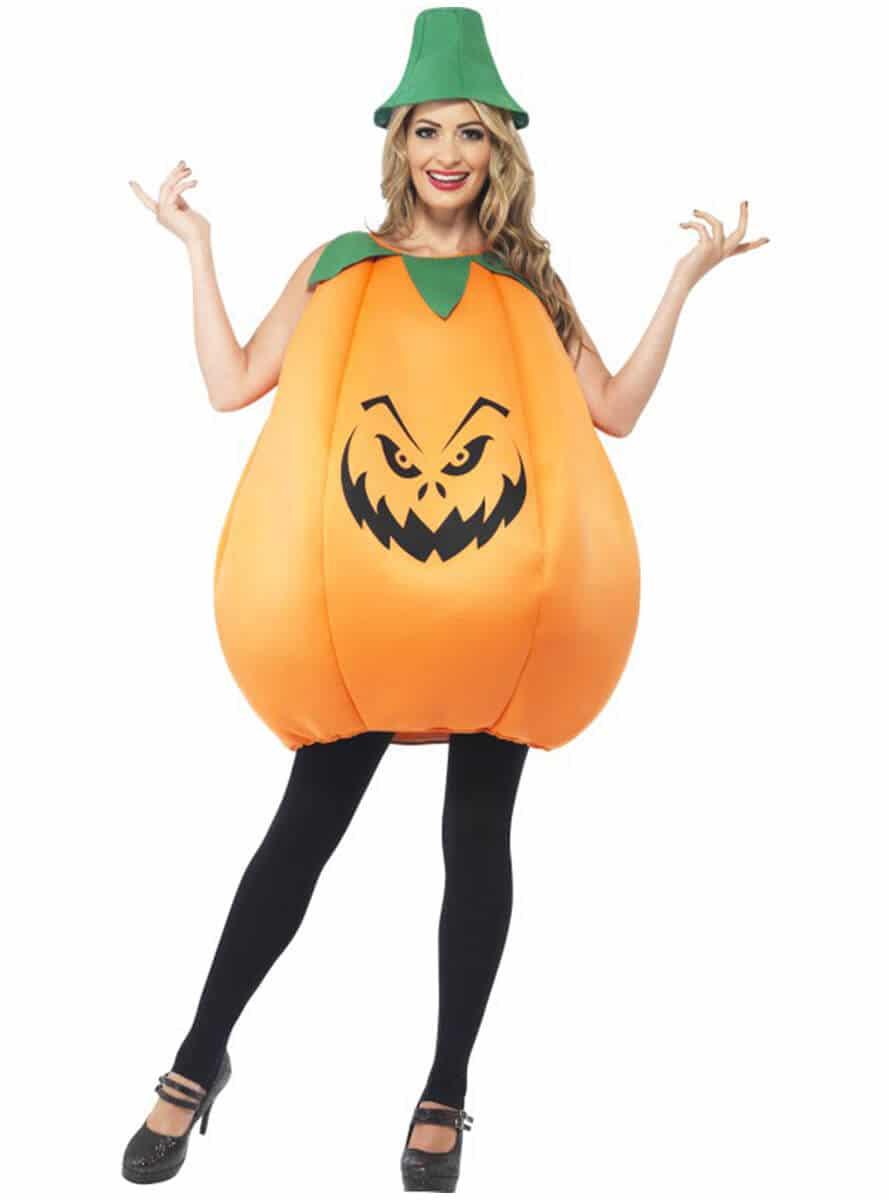 Kürbiskostüm zu Halloween selber machen