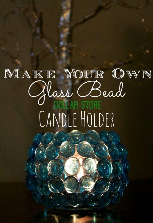 Hochzeits- Tischdeko Ideen mit Glassteinen