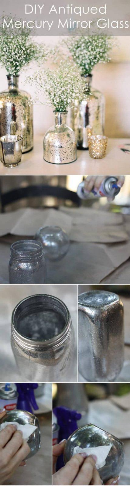 DIY Antike Vase selber mit Sprayfarben besprühen