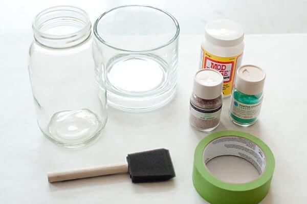 Glitzervase-Tischdeko selber machen