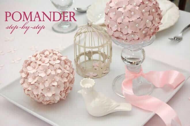 Pinke Tischdeko Ideen, Blumenball selber machen