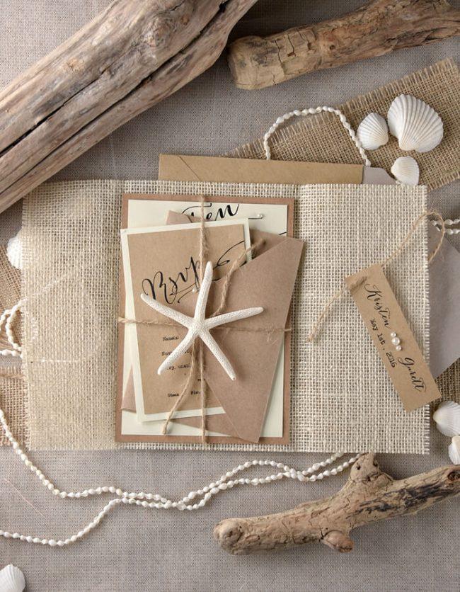 Einladungskarten Hochzeit - Motto Strand