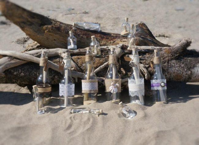 DIY Flaschenpost Einladung zur Hochzeit