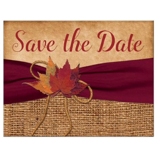 herbstliche Hochzeitseinladung, DIY Basteltipps mit getrockneten Blättern