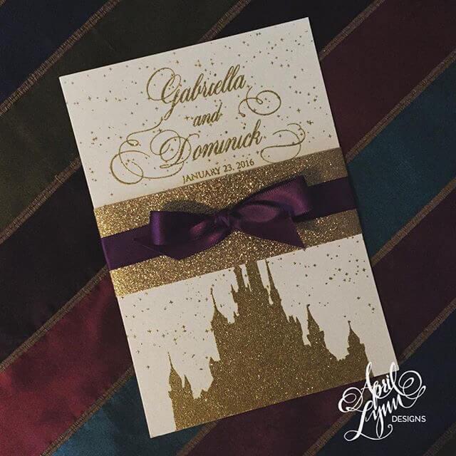 Walt Disney Einladungskarten - Hochzeitseinladungen basteln