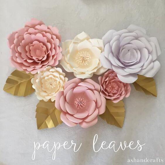 DIY Papierblume basteln