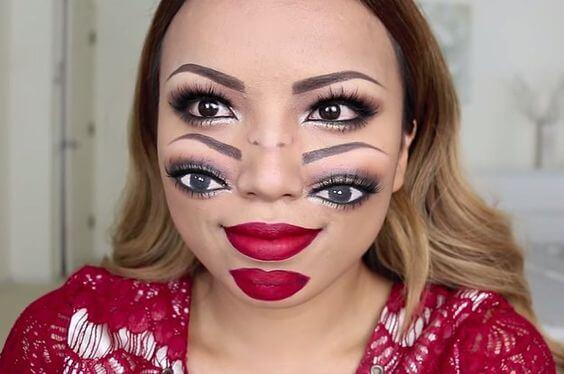 Doppelgesicht Makeup selber machen