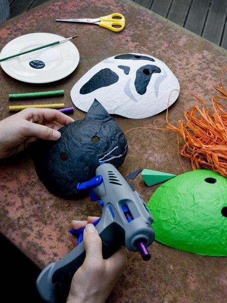 Katze und Ufo Maske selber machen