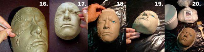 Gruselige Latexmaske selber machen - Schritt 4.