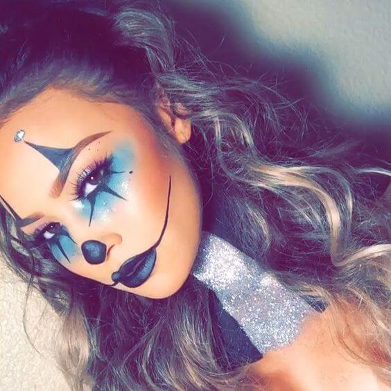 Sexy-Clown Makeup-Ideen für die Halloweenparty
