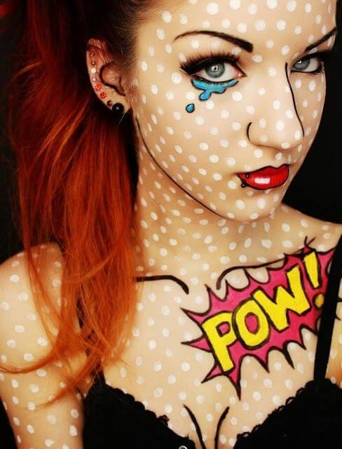 Comic Schminke - Halloween Make-Up Tipps