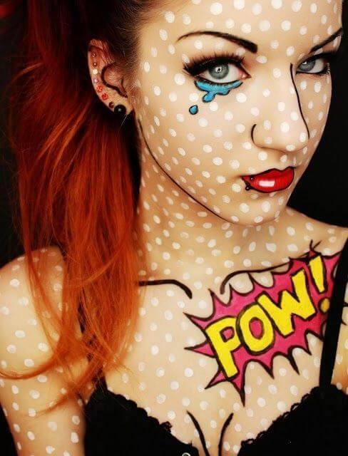 clown maske schminken