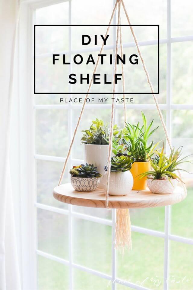 Hängeregal zum selber machen - Wohndeko mit Blumen