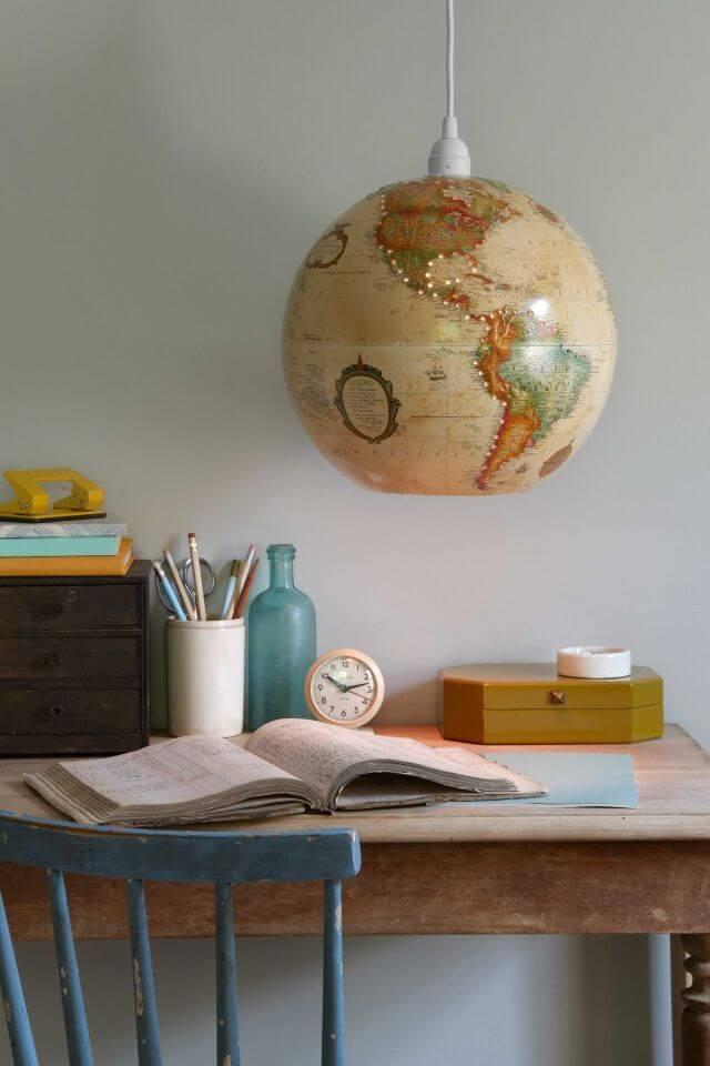 Globus Deko, Lampe selber machen,