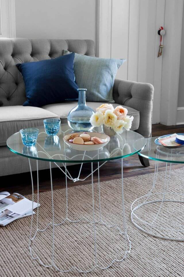 Lampenschirm Tisch, Designertisch selber machen