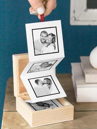 Fotokiste persönlich DIY Geschenk, DIY last minute Geschenkideen