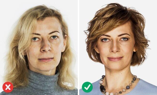 Haartrend für mittellande Haare, um jünger auszusehen