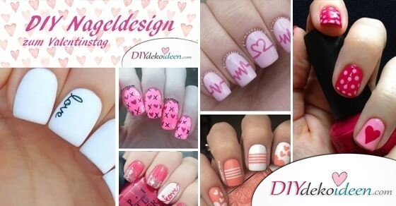 diy nageldesign ideen zum valentinstag s e ideen zum tag der liebe. Black Bedroom Furniture Sets. Home Design Ideas