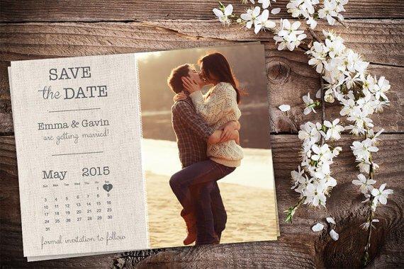Foto-Kalender Einladungskarten zur Hochzeit - DIY Ideen