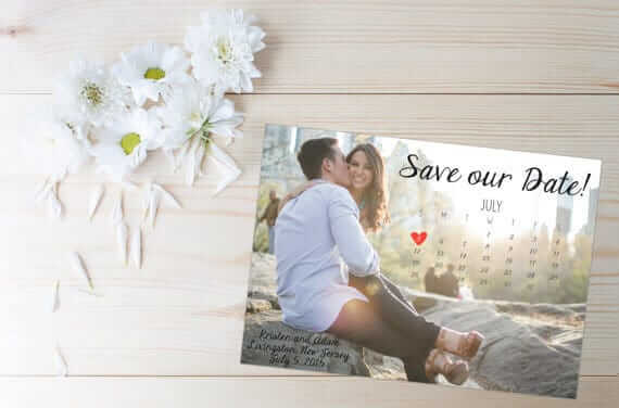 Einladungskarten zur Hochzeit - Fotokalender